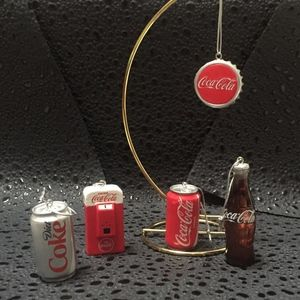 Coca Cola Set of 5 Ornaments by Kurt Adler NIB
